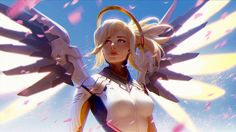 Video Game Overwatch  Mercy Wallpaper
