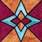 Stained Glass Paradox Quilt Block Pattern