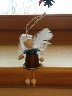 Diy christmas angel made with nespresso caps