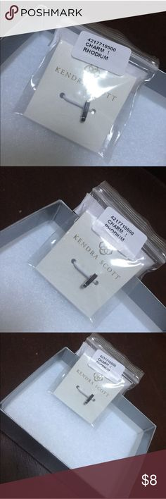 🔥5 FOR $25 NWT Kendra Scott Exclamation Charm Kendra Scott Silver rhodium exclamation point charm for necklace or bracelet, brand new in box, one size. Kendra Scott Jewelry Necklaces