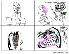 Funny rage comic at school