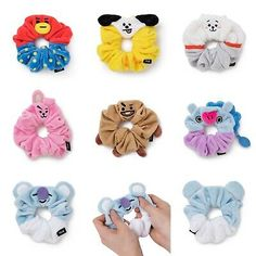 Official Plush Hair Tie Band By Line Friends Store Mochila Kpop, Mochila Do Bts, Scrunchies, Things To Buy, Girly Things, Bts Doll, Bts Makeup, Army Room Decor, Bts Hoodie