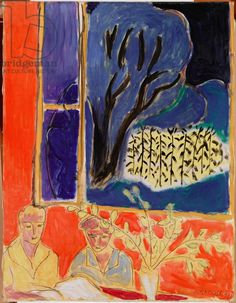 Matisse, Henri (1869-1954) Two Girls in a Coral Interior, Blue Garden, 1947 (oil on canvas)