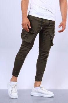 Pantalon Cargo Homme Noir Slim Fit Pantalon Léger