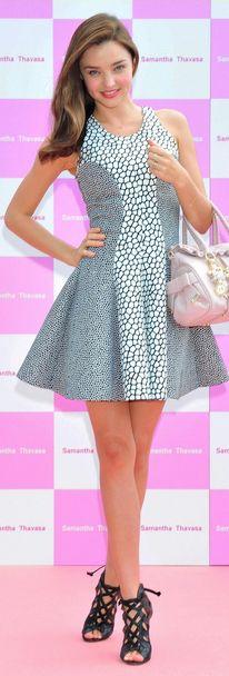 Miranda Kerr: Dress - Josh Goot Shoes - Alaia Azzedine Purse - Samantha Thavasa