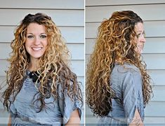 Can you believe she got these gorgeous curls from egg whites?! Directions in the post.