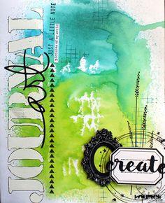 Voici une petite page d'Art Journal      vous pourrez trouver tous ces tampons sur la boutique