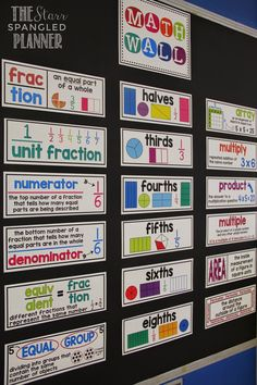 Here's a terrific example of a math word wall.