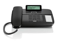 Kablolu Masaüstü Telefonu Caller id 100 Rehber Siyah