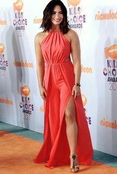 Demi Lovato attends Kids Choice Awards