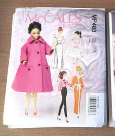 "VOGUE OOP 7536//603 11 1//2/"" Fashion Doll VINTAGE CLOTHES Pattern"