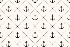 10 Anchor monochrome patterns ~ Patterns on Creative Market