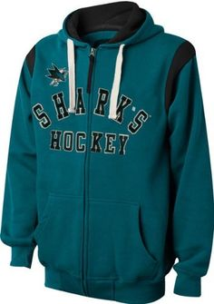NHL San Jose Sharks TKO Full Zip Hoodie Sweatshirt - Teal (X-Large) by G-III Sports. $49.99. Protect yourself from the harsh elements and the cold temperatures with this San Jose Sharks Teal TKO Full-Zip Hooded Sweatshirt. Made by G-III Sports, this San Jose Sharks sweatshirt features tackle twill applique graphics and two front pouch pockets. Grab a piece of Sharks team gear with this one-of-a-kind sweatshirt.