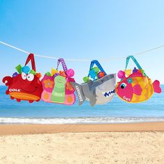 Get ready for some fun in the sun with our jam-packed beach tote! It comes complete with 5 rugged sand toys so kids can enjoy a carefree day of building, digging and getting creative on the beach. When it's time to leave, the toys fit conveniently in the tote for the trip home.