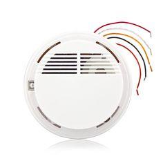 Filaire Incendie Détecteur de Fumée Alarme Capteur Tester Pour Système de Sécurité À Domicile NOUVEAU Produit D'alarme Incendie Détecteur de Fumée