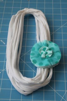 t-shirt scarf with interchangeable flower