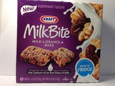 Crazy Food Dude Review: Kraft MilkBite Oatmeal Raisin Milk & Granola Bar