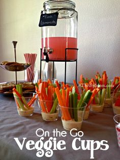 on the go veggie cup