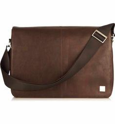 Main Image - KNOMO London Brompton Bungo RFID Leather Messenger Bag