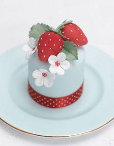 Strawberry Blossom Miniature Cake