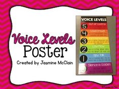 Free Voice Levels Poster:  I like the rhymes!  Cute!