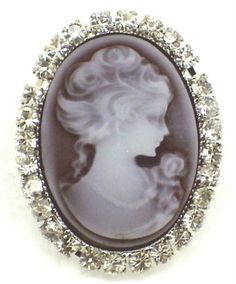 Burgundy Cameo Gothic Victorian Ring