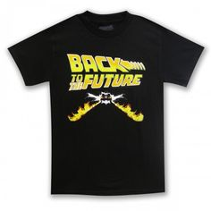 Back To The Future Logo T-Shirt - Black