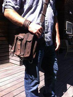 iPad Safari  Bag   Brown   Thick Full Grain by CopperRiverBags, $108.95