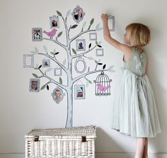 Exclusive to UK-based, Cox & Cox, this beautifully designed, adhesive wall sticker has fourteen frames in which to cut and stick photos of your loved ones. Creating a visual family tree, the decal is re-usable and even features a few finely feathered friends.