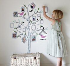 Familienfotos-an-die-Wand-kinderzimmer-familienbaum