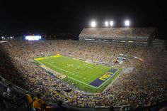 """""""It's Saturday Night in Death Valley... and here come your Fighting Tigers of LSU."""""""