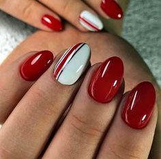 Elegant Nail Designs, Fall Nail Designs, Cute Nail Designs, Great Nails, Perfect Nails, Fun Nails, Ohio State Nails, Subtle Nail Art, Nail Art Designs Videos