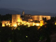 The Alhambra by night. Want to enjoy Andalucia? www.ruralidays.com by @ruralidays