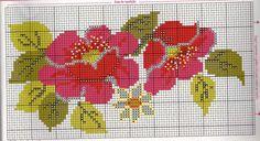 Gráficos de Crochê e Ponto Cruz: Gráficos da Toalha de Rosto