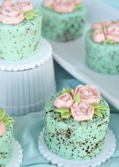 Mini Speckled Egg Cakes  - CountryLiving.com