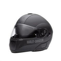 Harley-Davidson® Men's Modular Helmet with Retractable Sun Shield Matte Black 98226-11VM