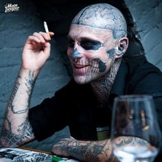 """Rick Genest """"Zombie Boy"""":: Is it weird that I love his smile?"""