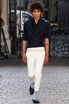 I want the top of Haider Ackermann Spring 2016 Menswear Fashion Show - Jackson Hale