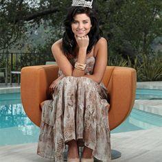 Miss America 2012 Laura Kaeppeler wearing EXPRESS.