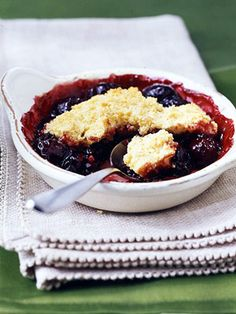 No oven needed. This dessert cooks entirely in the saucepan. Simply drop biscuit dough on top of the bubbly cherry filling and simmer. That's easy!