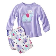 JUST ONE YOU™ Made by Carter's® Infant Toddler Girls 2-Piece Elephant Pajama Set - Purple