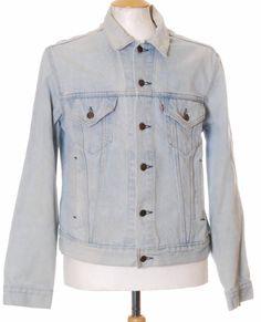 Vintage Blue Levi Strauss 70506 Stonewashed denim trucker jacket - Large #EasyPin