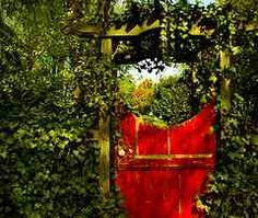 Garden gate with ivy