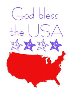 Happy Fourth & God Bless The USA Printable - A Mouse In My Kitchen