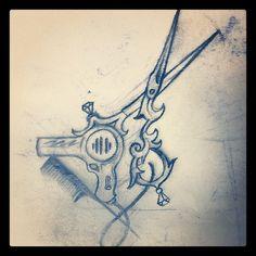 victorian shears tattoo - Google Search