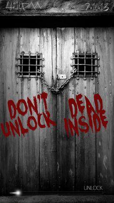 the walking dead lock screen - Google Search