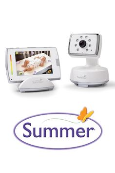Summer Infant BabyTouch® 2 Digital Color Video Monitor, perfect for when they're sleeping.