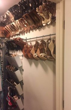 Organized shoe storage without using an inch of precious floor space