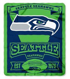 Northwest NOR-1NFL031020022RET 50 x 60 in. Seattle Seahawks NFL Light Weight Fleece Blanket, Marque Series