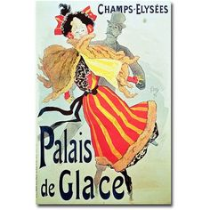 Trademark Art Ice Palace, Champs Elysees, 1893 inch Canvas Wall Art by Jules Cheret, Size: 16 x 24, Multicolor
